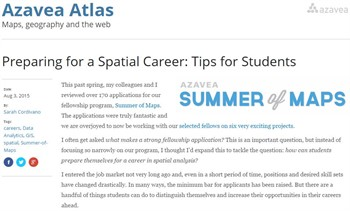 Preparing for a Spatial Career: Tips for Students